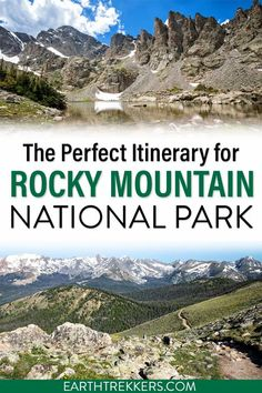 Rocky Mountain National Park itinerary. The best itinerary, whether you have 1, 2, 3 or more days in RMNP. Best things to do, best hikes and scenic drives, where to stay, and how to plan your time. #rmnp #rockymountains #nationalpark Colorado Tourism, Hiking Photography, Park Around, National Parks Usa, Rocky Mountain National Park, Best Hikes, United States Travel, Denver Colorado, Rocky Mountains