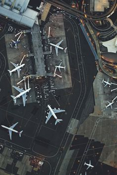 Aerial View of JFK Airport