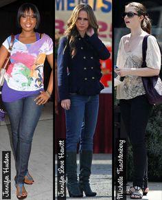 Curvy celebs rock skinny jeans. So I guess curvy girls can wear skinny jeans.