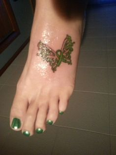 My tattoo to honor my daughter, Keely, who has cerebral palsy.
