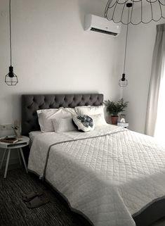 our Greek home master bedroom