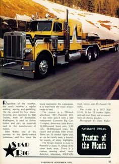 Peterbilt 359 Big Rig Trucks, Tow Truck, Cool Trucks, Peterbilt 359, Peterbilt Trucks, Logging Equipment, Heavy Construction Equipment, Custom Big Rigs, Trucks And Girls