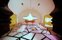 Best Interiors: Pop Art Interior Design of Majik Cafe by Karim Rashid Art Pop, Design Pop Art, Cafe Design, Set Design, Modern Design, Home Interior Design, Interior Decorating, Wolf Of Wall Street, Cottage Style Decor