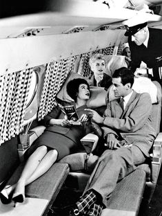 A couple try out a sleeper on a 1950s BOAC Comet