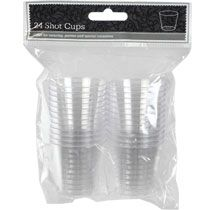 Plastic Shot Glasses, 1-oz., 24-ct. Packs