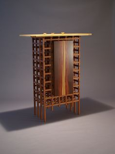 Lily (With a Slight Chance of Rain) by Danny Kamerath of Kerrville, TX.  2015 NICHE Awards Finalist. Category: Furniture- Cabinetry #furniture, #cabinetry, #wood
