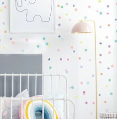 Wall Decal - Ice Cream Palette Hand Drawn Dots - Wall S - Stauraum im Babyzimmer Kids Wall Decor, Room Decor, Girl Room, Girls Bedroom, Wall Stickers Room, Girl Wall Decals, Wall Vinyl, Printed Cushions, Child Room
