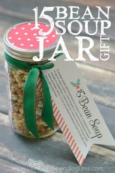 15 Bean Soup Jar Gift Vertical 1