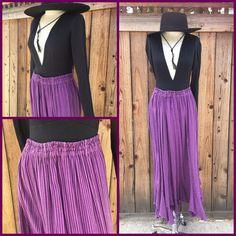 "Tienda HO Purple Black 1 8"" Stripe Moroccan Cotton Ruffle Skirt Lagenlook OS | eBay"