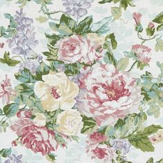 Pink/Green floral large decorator fabric by Duralee. Item 42481-700. Best prices and fast free shipping on Duralee fabrics. Over 100,000 designer patterns. Only 1st Quality. Width 54 inches. Swatches available.
