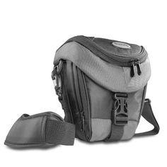 Mantona Colt Premium Kameratasche für SLR und Systemkamera (Universaltasche inkl. Schnellzugriff, Staubschutz, Tragegurt und Zubehörfach) schwarz/grau - http://kameras-kaufen.de/mantona/schwarz-grau-mantona-colt-slr-kameratasche-inkl