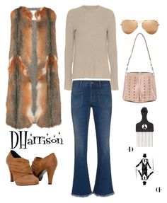 That 70's Thing by dharrisonsdesigns featuring Helmut Lang, Valentino, STELLA McCARTNEY, Maison Margiela, vintage, women's clothing, women's fashion, women, female and woman #dharrison #peronalshopper #wardrobeconsultant #stylist #fashionblogger #jewelrydesigner #fashionisto #womanswear #Fauxfur #sweater #glasses #purse #jeans #botties #afropic #vintage #retro