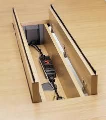 desk design with cable management Office Table Design, Office Interior Design, Office Interiors, Office Nook, Office Wall Decor, Folding Furniture, Home Office Furniture, Diy Computer Desk, Diy Desk