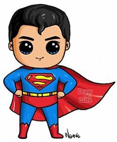 Cartoon Drawings Superman By:Draw so cute Kawaii Girl Drawings, Cute Girl Drawing, Disney Drawings, Cartoon Drawings, Easy Drawings, Drawing Disney, Kawaii Disney, Cute Disney, Arte Do Kawaii