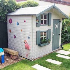 7 x 5 Waltons Honeypot Snowdrop Apex Wooden Playhouse with Loft