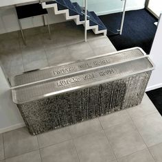 Crystal radiator cover or console table makeover in Kensington, London (From Modern Radiator Covers and Window Shutters)