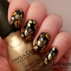 Fall nail art with Cici&Sisi stamping plates