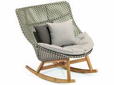 MBRACE Rocking garden armchair Mbrace Collection by Dedon design Sebastian Herkner
