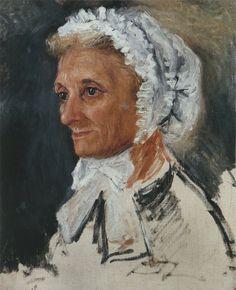Portrait of Renoir`s Mother, 1860. Pierre Auguste Renoir