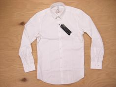 BLACK BARRETT by NEIL BARRETT white POINT COLLAR SLIM DRESS SHIRT 3 S Japan NWT #BlackBarrettbyNeilBarrett