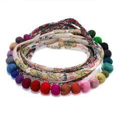 :: Liberty armbånd/hårbånd - Cecile Boccara:: Apparently the bobbles are of fabric?!? Wow, idea!