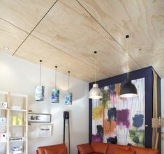 Beautiful Ply ceiling with black negative detailing. | Interior ...