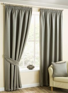 Buy Ready made curtains from the Home department at Debenhams. You'll find the widest range of Ready made curtains products online and delivered to your door. Grey Pencil Pleat Curtains, Wide Curtains, Pleated Curtains, Panel Curtains, Bedroom Curtains, Lounge Curtains, Chenille Fabric, Made To Measure Blinds, Colors
