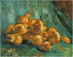Vincent van Gogh Painting, Oil on Canvas Paris: Winter, 1887 - 88 Gemaldegalerie Neue Meister Dresden, Germany, Europe F: 602, JH: 1343 Image Only - Van Gogh: Still Life with Pears