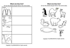 Here's a page for students to sort animals according to where they live.