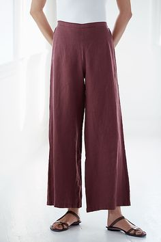 Long Full Pant by Bryn Walker: Linen Pant available at www.artfulhome.com