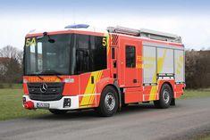Erste Erfahrungen mit Euro-VI-Abgastechnologie bei neuer Löschfahrzeuggeneration  Die Feuerwehr Hannover hat bis Ende 2015 insgesamt 17 neue Hilfeleistungslöschfahrzeuge des Typs HLF 20 in Dienst genommen, welche von Magirus-Lohr auf dem Fahrgestell Mercedes-Benz Econic 1830 auf Basis des Euro-VI- Standards gefertigt wurden.  Quelle/Bild: Feuerwehr Hannover