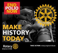 Rotary International make History Today Poster - by CMC