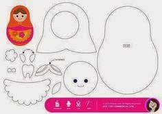 Plantilla, molde o patrón para hacer una muñeca rusa o matryoshka en fieltro o tela Felt Dolls, Paper Dolls, Dolls Dolls, Sewing Crafts, Sewing Projects, Tooth Fairy Pillow, Tooth Pillow, Applique Templates, Matryoshka Doll