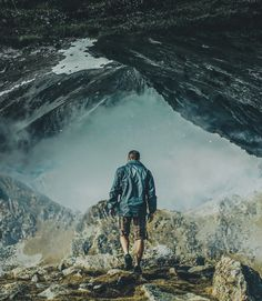U N R L on Behance Surreal Collage, Niagara Falls, Graphic Illustration, Surrealism, Mount Everest, Mountains, Nature, Photography, Travel
