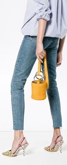 SIMON MILLER Orange Bonsai 15 mini bucket bag, explore Simon Miller on Farfetch now.