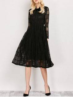 GET $50 NOW | Join RoseGal: Get YOUR $50 NOW!http://www.rosegal.com/lace-dresses/long-sleeves-pussy-bow-lace-971369.html?seid=6822905rg971369