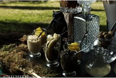 Snow White and the Huntsman Wedding Inspiration - love the martini bar!