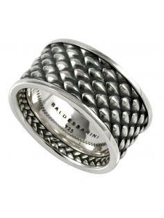 Baldessarini men silver ring dragon scale. #men #jewellery #ring #signetring #baldessarini