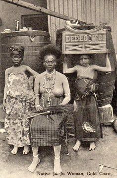 """Native Juju Woman, Gold Coast"" - vintage postcard, circa 1900-10, photographer unknown, author's collection."