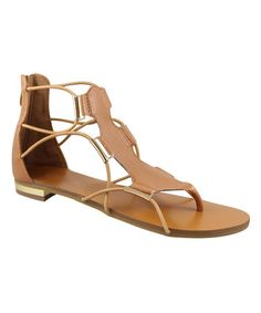 Loving this Tan Gladiator Sandal on #zulily! #zulilyfinds