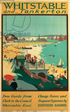Whitstable and Tankerton, poster advertising Southern Electric Railways (colour litho)