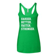Gym Tank Gym Shirt Harder Better Faster Stronger by DripDesigns