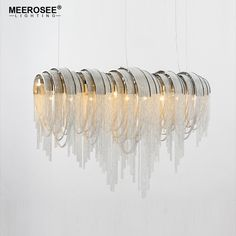 French Empire Chain Pendant Light Aluminum Post Chain Vintage Hanging Lamp Drop Lustre for Hotel Project Home Decor MD83101