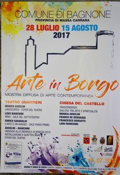 #Lunigiana #Arte. A partire da oggi fino al 15 agosto #Bagnone ospita Arte in Borgo, una mostra diffusa di arte contemporanea che guiderà il visitatore in un percorso tra le bellezze naturali ed architettoniche del paese e la bellezza artistica delle opere esposte
