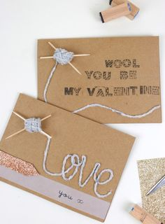 Handmade Valentines Card for Wool Lovers #knitting #Valentines