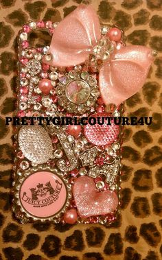 Juicy Couture pink Iphone 4 cell phone case