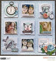 October has seen two amazing collections released over at Kaisercraft - Glisten and Ooh La La. Couple Scrapbook, Baby Scrapbook, Scrapbook Cards, Multi Photo, Freebies, Flower Canvas, Photo Layouts, Clear Stamps, Page Design