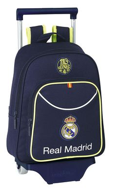 Safta - Real Madrid C.F. 2ª equipación mochila infantil con ruedas, 27 x 34 x 10 cm (611357020): Amazon.es: Equipaje Real Madrid, Baggage, Suitcases, Wheels, Backpacks, Products