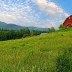 Vermont, love the red barns against green mountains