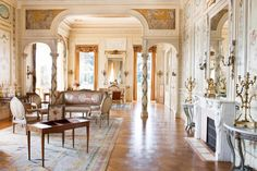 Euphrussi de Rothschild Villa on French Riviera Grand Salon